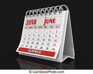 Calendar - june 2018 (clippingská stezka)