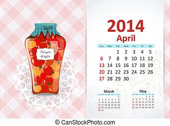 Calendar na rok, april