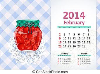 Calendar na rok, febru