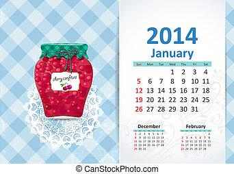 Calendar na rok, january