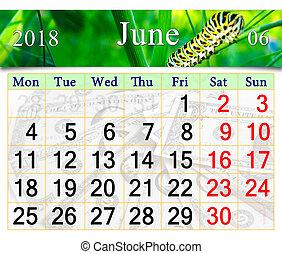 Calendar pro june 2018 s housenkou