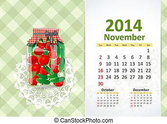 Calendar pro rok, november