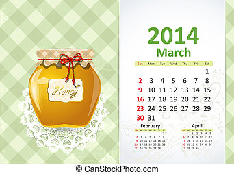 Calendar pro rok, pochod