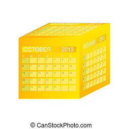 Calendar r. Vektorová ilustrace