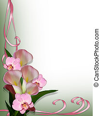 Calla lilie a orchideje