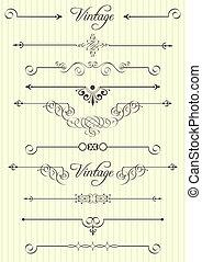 Calligrafické struktury a dekorace