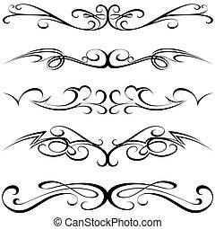 calligraphic, čepobití