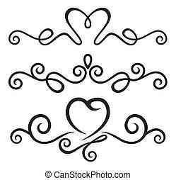 calligraphic, základy, květinový