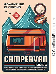 Campervan a kemping trailers Tours Tours retros