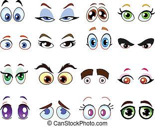 Cartoonové oči