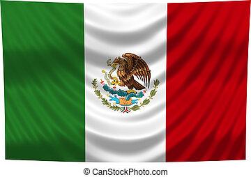 celostátní vlaječka, mexiko