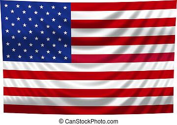 celostátní vlaječka, usa