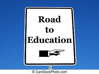 cesta, školství