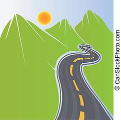Cesta a zelené hory