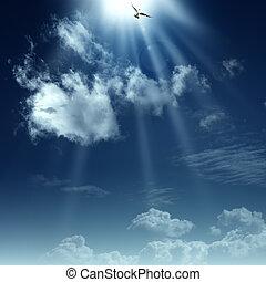 Cesta do nebe. Abstraktní duchovní pozadí vašeho návrhu