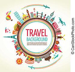 Cestovní a turistický vektor