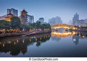 Chengdu, porcelán na řece
