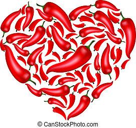 Chili pepřové srdce