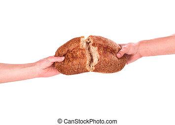 Chleba v ruce