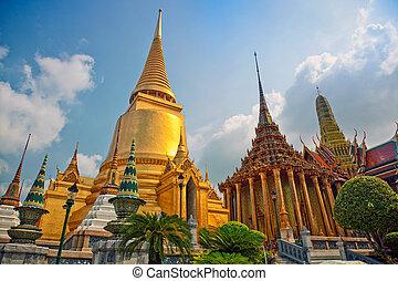 chrám, bangkok