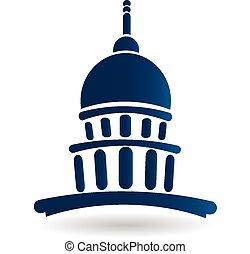 chrám, budova, hlavní, emblém, ikona