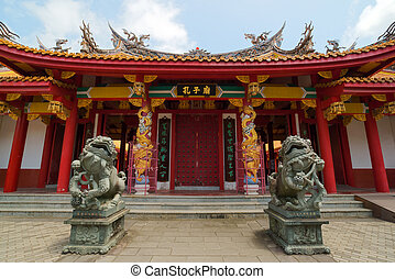 chrám, nagasaki, japonsko, confucian