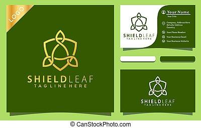 chránit, povolání, zlatý, vektor, karta, ikona, ilustrace, emblém, inspirace, podnik, šablona, design, moderní
