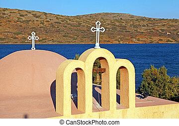 church(crete, řečtina, klasický, pravověrný, greece)