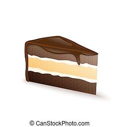 Chutný čokoládový dort