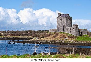chvějící se, irština, věž, irsko, západ