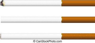 cigarety, běloba grafické pozadí