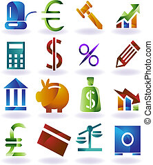 dát, barva, ikona, bankovnictví