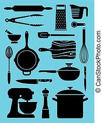 dát, kuchyňské nádobí, 17, illustrations.