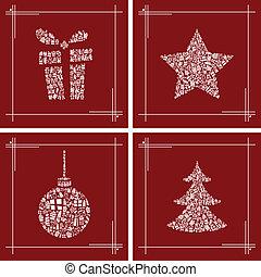 dát, vánoce, znak, abstraktní