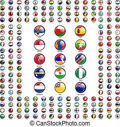 dát, země, nejvyšší, podepsaný, postavení, vlaječka, jména, společnost, kruh, ikona