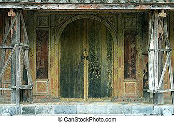 dávný, dveře, vietnamec