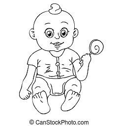 děťátko, ilustrace