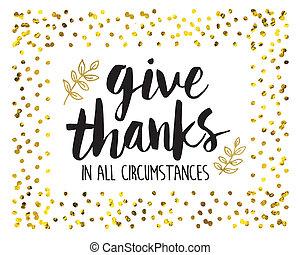 Děkuji za všechny okolnosti