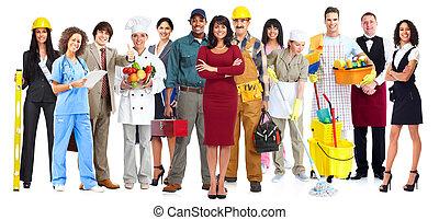 Dělníci skupina lidí.