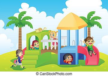 Děti na hřišti