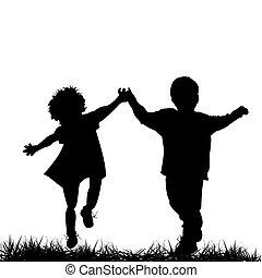 Děti utíkají