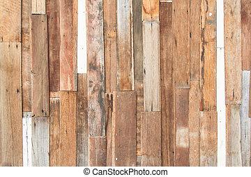 Dřevěná zeď