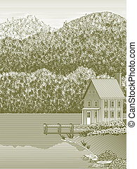Dřevěné jezero