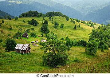 dřevěný, hromada čeho údolí, ubytovat se