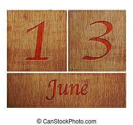 Dřevěný kalendář 13.