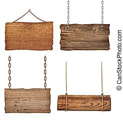 Dřevěný znakový řetězec