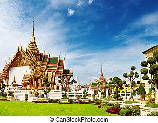 důležitý, bangkok, thajsko, palác