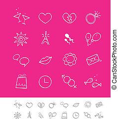 datovací, i kdy, společenský, láska, ikona