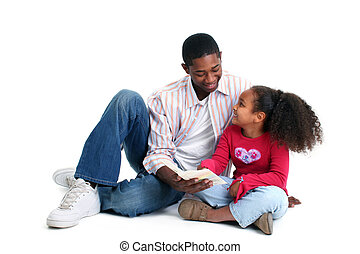 Dcera čte