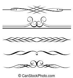 Dekorativní prvky, hranice a pravidla